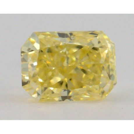 0.32 Carat, Natural Fancy Intense Yellow, Radiant Shape, VS2 Clarity, GIA