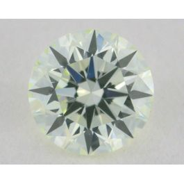 0.23 Carat, Natural Faint Green, Round Shape, VS2 Clarity, IGI