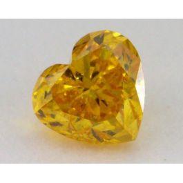0.20 Carat, Natural Fancy Vivid Orange, Heart Shape, SI2 Clarity, IGI