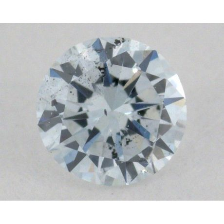 0.11 Carat, Natural Very Light Green, Round Shape, SI2 Clarity, GIA