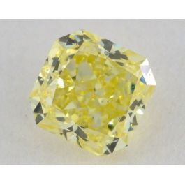 0.36 Carat, Natural Fancy Intense Yellow, Radiant Shape, SI2 Clarity, GIA