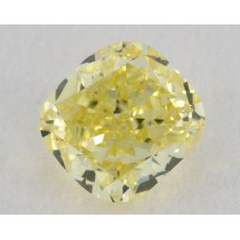 0.33 Carat, Natural Fancy Yellow, Cushion Shape, VS2 Clarity, GIA