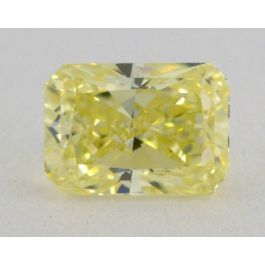 0.39 Carat, Natural Fancy Yellow, Radiant Shape, VS2 Clarity, GIA