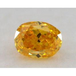 0.29 Carat, Natural Fancy Vivid Orangey Yellow, Oval Shape, SI1 Clarity, GIA