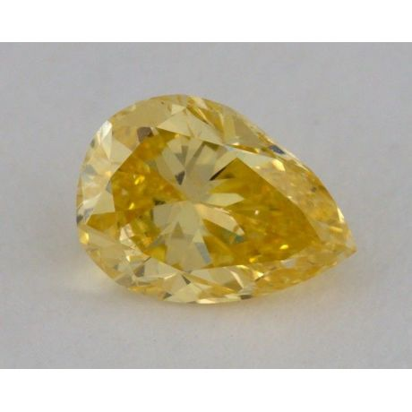 0.49 Carat, Natural Fancy Intense Orangy Yellow, Pear Shape, SI1 Clarity, GIA