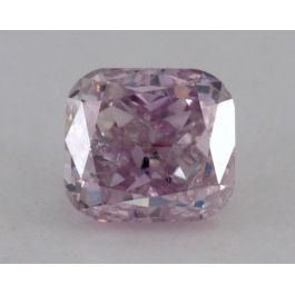 0.36 Carat, Natural Fancy Purple Pink, Cushion Shape, I1 Clarity, GIA