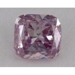 0.30 Carat, Natural Fancy Purple Pink, Cushion Shape, I1 Clarity, GIA