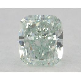 0.42 Carat, Natural Fancy Light Green, Cushion Shape, VS2 Clarity, GIA