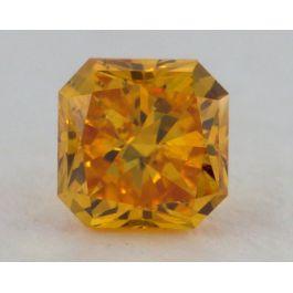 0.27 Carat, Natural Fancy Vivid Orange, Radiant Shape, SI1 Clarity, IGI