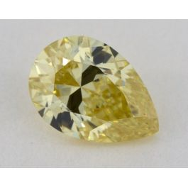 1.05 Carat, Natural Fancy Yellow, Pear Shape, VS1 Clarity, GIA