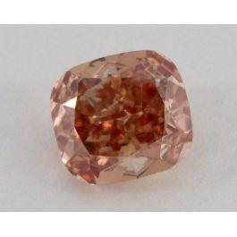 1.00 Carat, Natural Fancy Deep Brownish Orangey Pink, Cushion Shape, SI1 Clarity, GIA