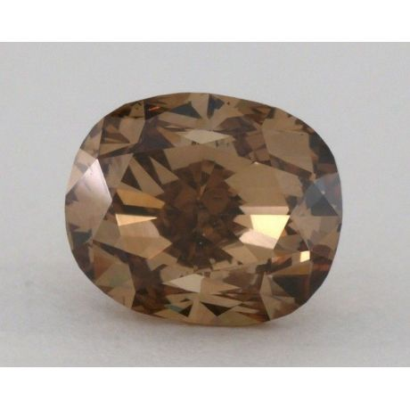1.82 Carat, Natural Fancy Dark Orangy Brown, Cushion Shape, SI1 Clarity, GIA