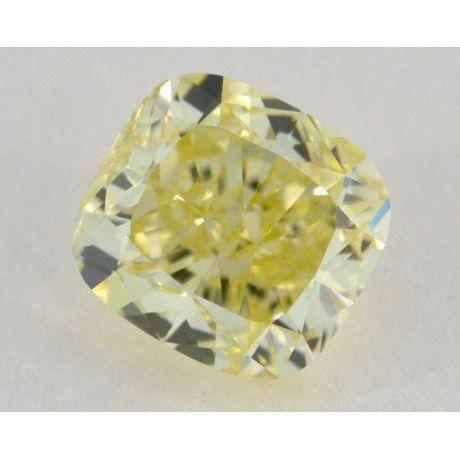 1.03 Carat, Natural Fancy Yellow, Cushion Shape, VS2 Clarity, GIA