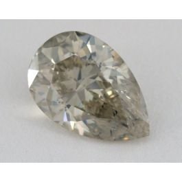 4.22 Carat, Natural Fancy Gray- Greenish, Yellow, Pear Shape, I1 Clarity, GIA