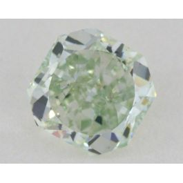 0.85 carat, Natural Fancy Green, Radiant Shape, SI1 Clarity, GIA