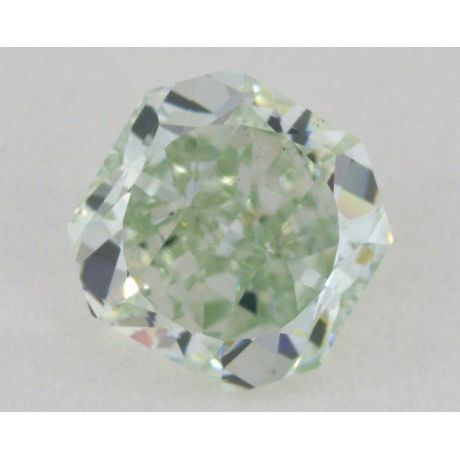 0.85 carat, Natural Fancy Green, Radiant Cushion, SI1 Clarity, GIA