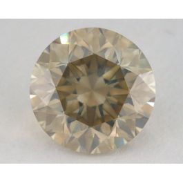 5.01 carat, Natural Fancy Light Brown Greenish Yellow, Round Shape, SI1 Clarity, GIA