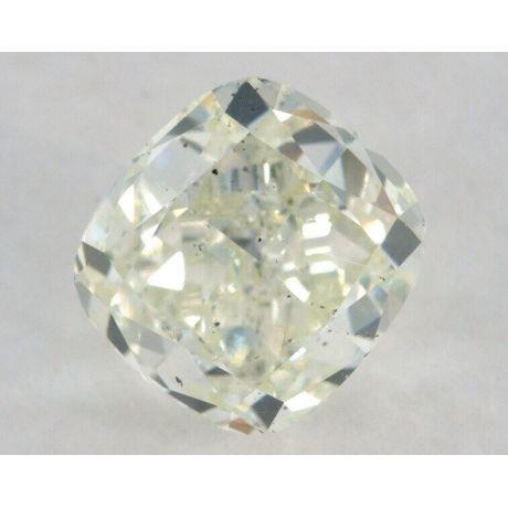 1.24 carat, Fancy Light Yellow-Green, Cushion Shape, SI1 Clarity, GIA