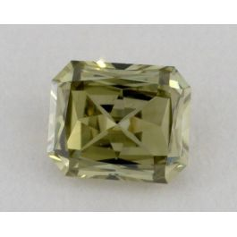 0.48 carat, Natural Fancy Grayish Greenish Yellow, Radiant Shape, VS2 Clarity, GIA