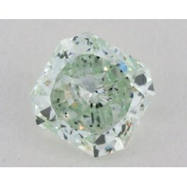 0.78 carat, Natural Fancy Green, Radiant Shape, SI2 Clarity, GIA