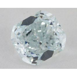 0.89 carat, Natural Fancy Light Bluish Green, Radiant Shape, VS2 Clarity, GIA