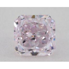 0.83 carat, Natural Fancy Light Pinkish Purple, Radiant Shape, SI1 Clarity, GIA