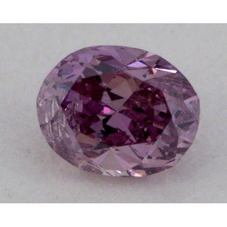 0.10 Carat, Natural Fancy Deep Purple Pink, Oval Shape, I2 Clarity, GIA