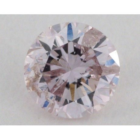 0.38 Carat, Natural Fancy Intense Pink Purple , Round Shape, I1 Clarity, GIA
