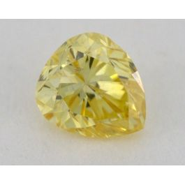 0.30 Carat, Natural Fancy Intense Orangey Yellow, Pear Shape, SI2 Clarity, IGI