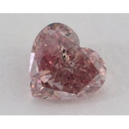 1.38 Carat, Natural Fancy Deep Pink, Heart Shape, I1 Clarity, GIA