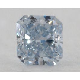 0.20 Carat, Natural Fancy Blue, Radiant Shape, VS clarity, GIA