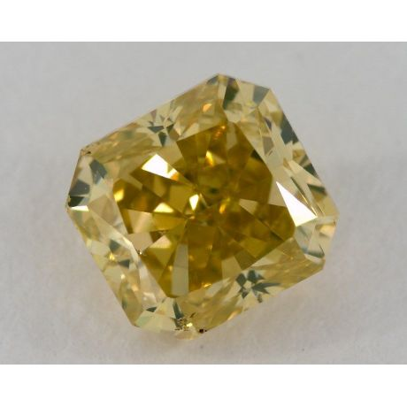 2.01 Carat, Natural Fancy Vivid Greenish Yellow, Radiant Shape, SI2 Clarity, GIA