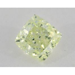 1.17 Carat, Natural Fancy Light Yellow-Green, Radiant Shape, SI1 Clarity, GIA
