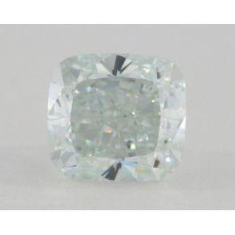 1.41 Carat, Natural Fancy Light Greenish Blue, Cushion Shape, VS2 Clarity, GIA