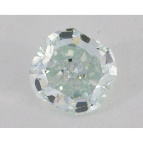 0.62 Carat, Natural Fancy Light Bluish Green, Radiant Shape, VVS1 Clarity, GIA