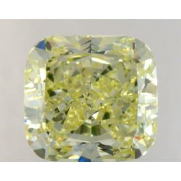 1.58 Carat, Natural Fancy Light Greenish Yellow, Cushion Shape, VS2 Clarity, GIA