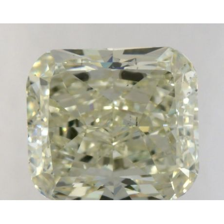 2.57 Carat, Natural Light Green-Yellow, Radiant Shape, SI1 Clarity, GIA