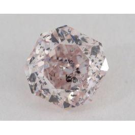 0.57 Carat, Natural Fancy Light Pink, Radiant Shape, I1 Clarity, GIA