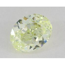 0.89 Carat, Natural Fancy Yellow-Green, Oval Shape, VS2 Clarity, GIA