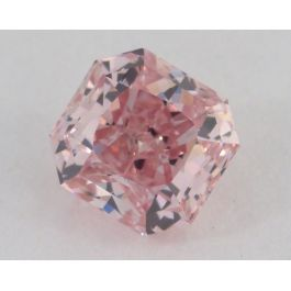 0.61 Carat, Fancy Intense Pink, Radiant Shape, VS2 Clarity, GIA