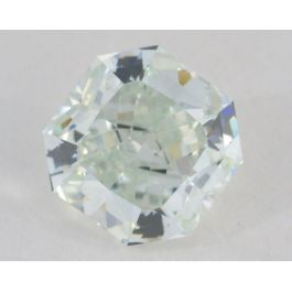 0.81 Carat, Natural Fancy Light Bluish Green, Radiant Shape, VVS1 Clarity, GIA