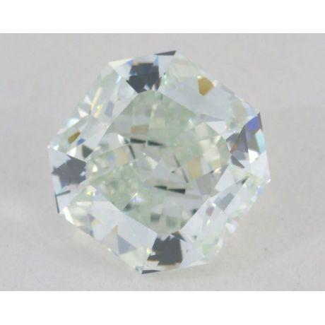 0.81 Carat, Natural Fancy Light Bluish Green, Radiant Shape, VVS1 Clarity, GIA