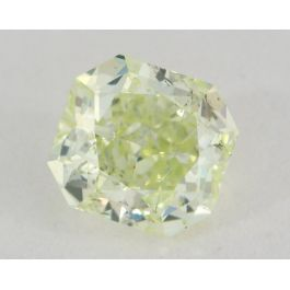 0.86 Carat, Natural Fancy Intense Yellow-Green, Radiant Shape, SI1 Clarity, GIA