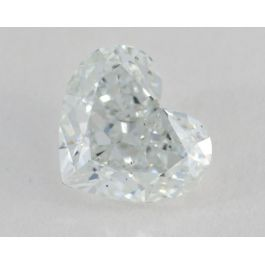 1.00 Carat, Natural Very Light Green, Heart Shape, SI1 Clarity, GIA