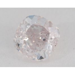 0.83 Carat, Natural Very Light Pink, Cushion Shape, I2 Clarity, GIA