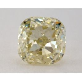 0.80 Carat, Natural Fancy Greenish Yellow, Cushion Shape, VS2 Clarity, GIA