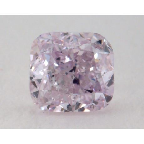 0.43 Carat, Natural Fancy Purplish Pink, Cushion Shape, SI2 Clarity, GIA