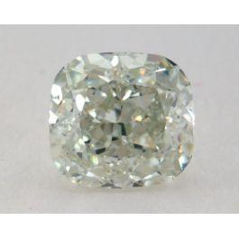 0.62 carat, Natural Fancy Light Yellowish Green, Cushion Shape, VS2 Clarity, GIA