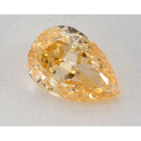 0.47 Carat, Natural Fancy intense Yellow-Orange, Pear Shape, VS2 Clarity, GIA