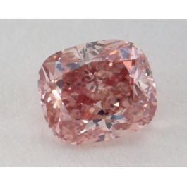 0.51 Carat, Natural Fancy Intense Pink, Cushion Shape SI1 Clarity, GIA